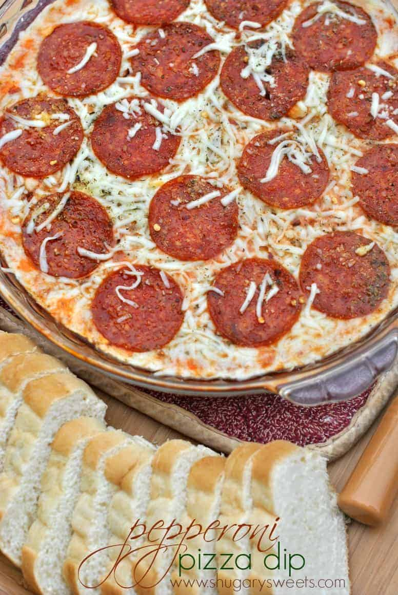Pepperoni Pizza Dip: an easy appetizer that's sure to please any crowd ...