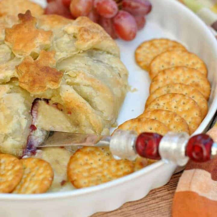 Puff Pastry Wrapped Cranberry Brie