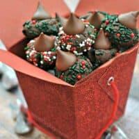 Chocolate Sprinkle Kiss Cookies