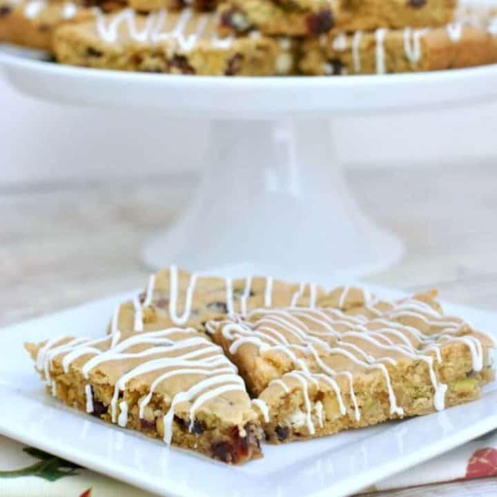 Cranberry Pistachio Cookie Bars