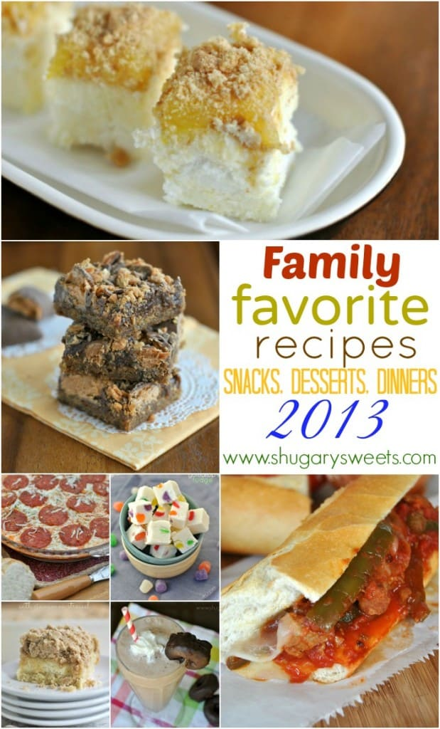 12 of my family's favorite recipes on Shugary Sweets