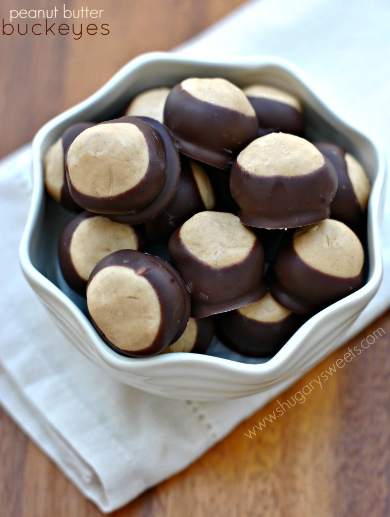Classic candy from Ohio . Peanut Butter Buckeyes . Soft peanut butter ...