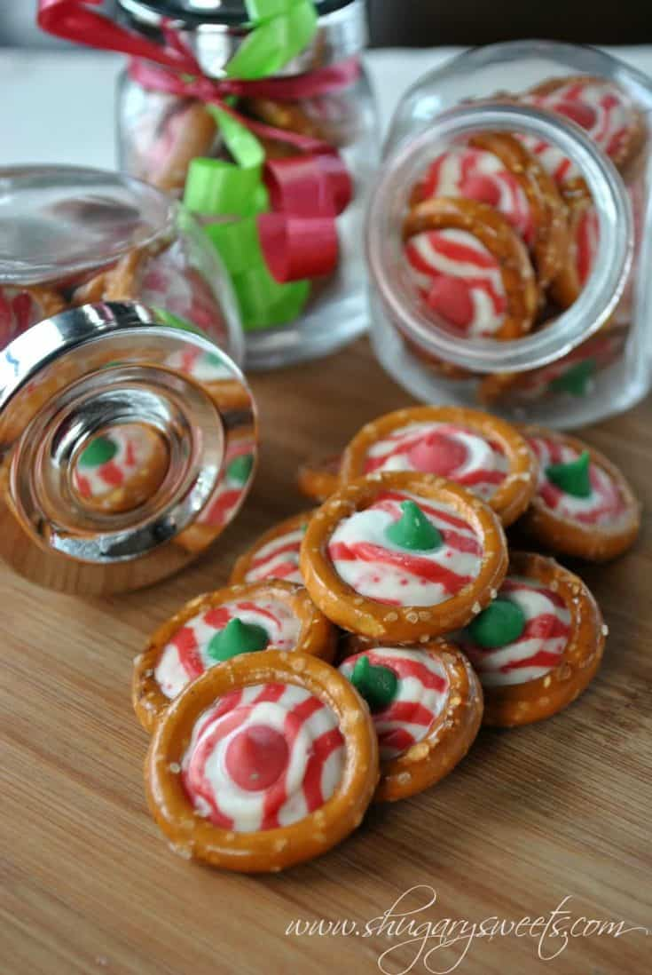 Grab a bag of Pretzel Rings, some Hershey Kisses and make a quick batch of this delicious, easy candy! Perfect for any holiday.You can use peppermint candy for Christmas. Or pumpkin flavored Hershey kisses for fall. ENJOY!