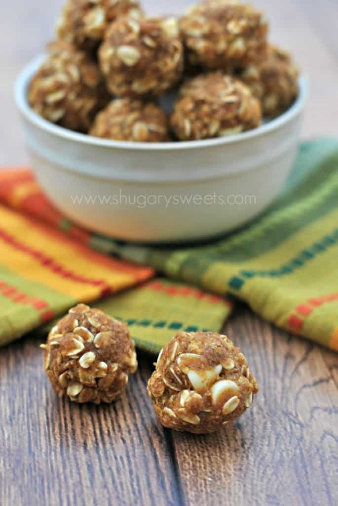 Skinny Pumpkin Energy Bites are the perfect post workout snack!