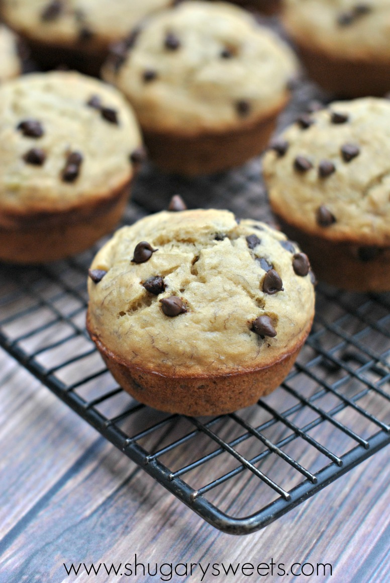 Banana muffins recipe with chocolate chips
