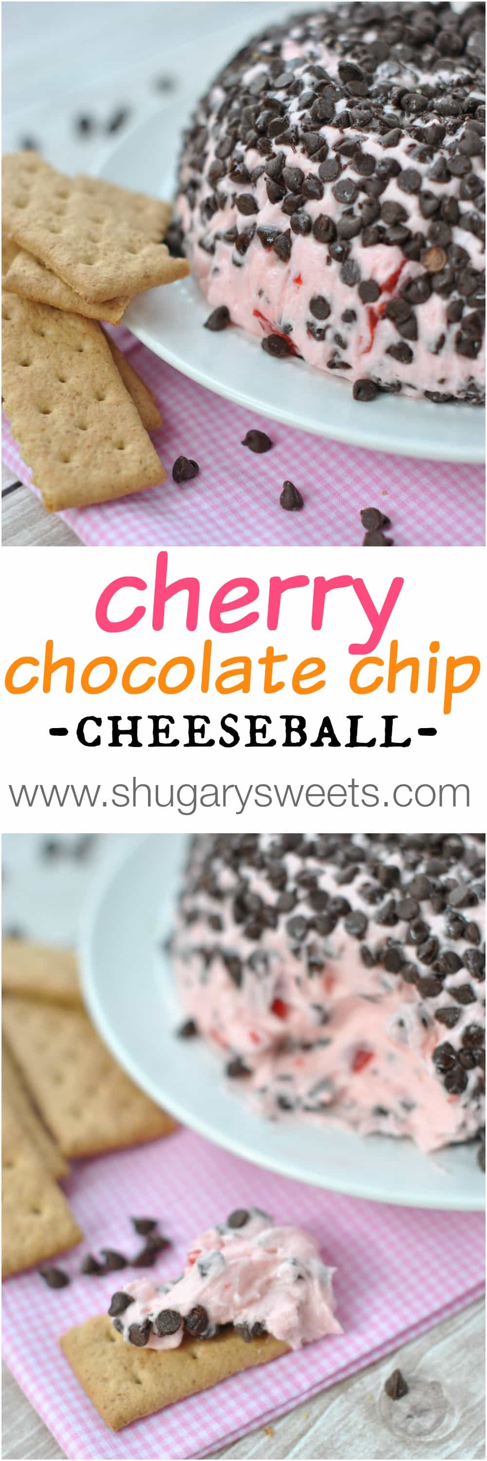Cherry Chocolate Chip Cheeseball - Shugary Sweets