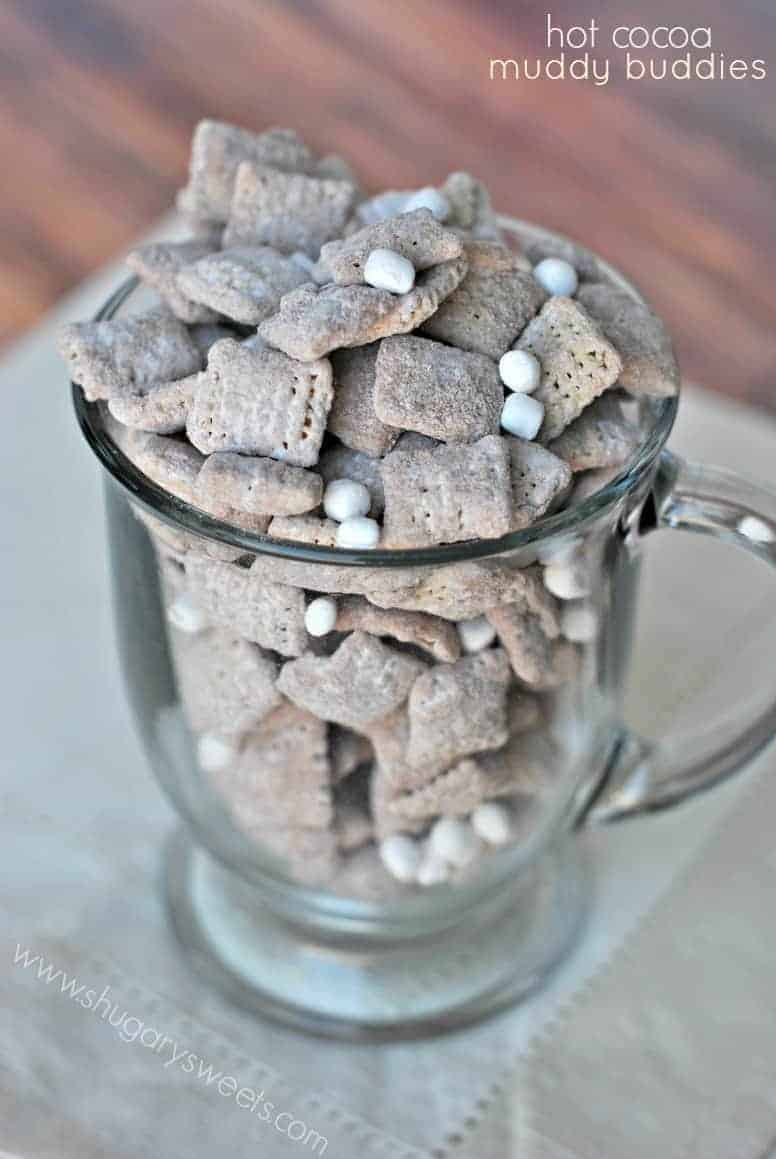 Hot Cocoa Muddy Buddies - Shugary Sweets
