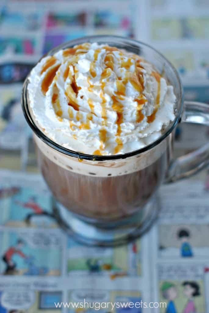 Skinny Caramel Mocha: less than 150 calories for a big mug, make it home and save money!