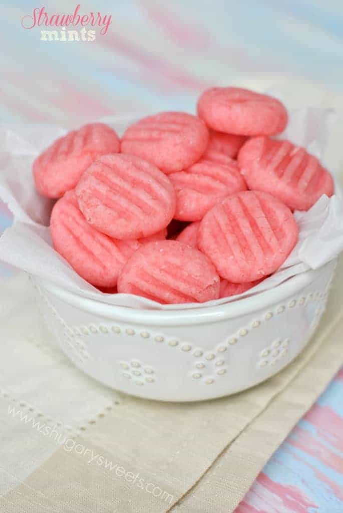 Easy Strawberry Mint Candies