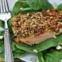Almond Pesto Salmon