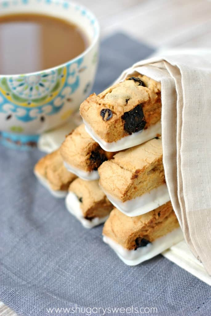 Cherry Almond Biscotti, so easy to make and delicious too!
