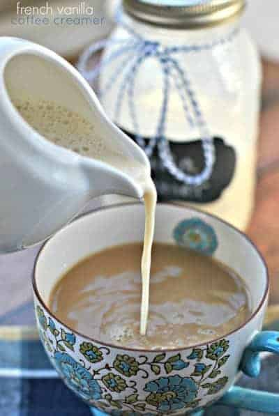 Easy French Vanilla Coffee Creamer recipe with only 3 ingredients!