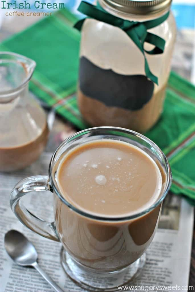 Irish Cream Coffee Creamer: an easy homemade recipe. Chocolate, almond, espresso!