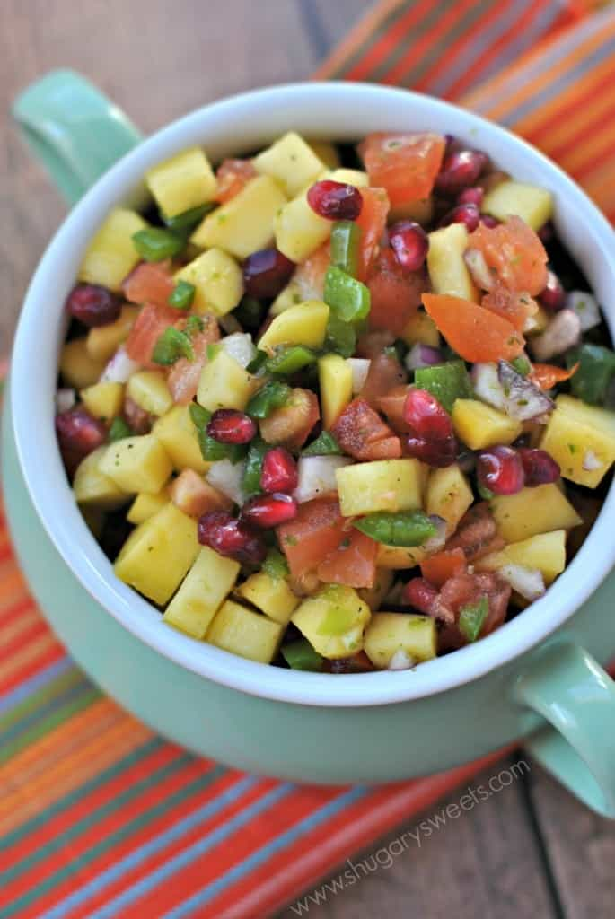 Mango Pomegranate Salsa recipe