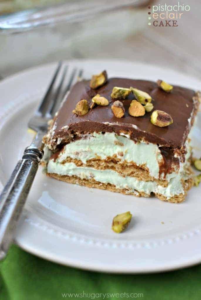 Pistachio Eclair Cake