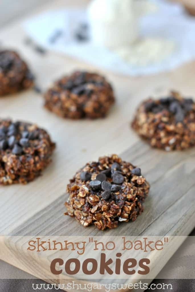 Skinny No Bake Cookies …banana and peanut butter help keep these ...