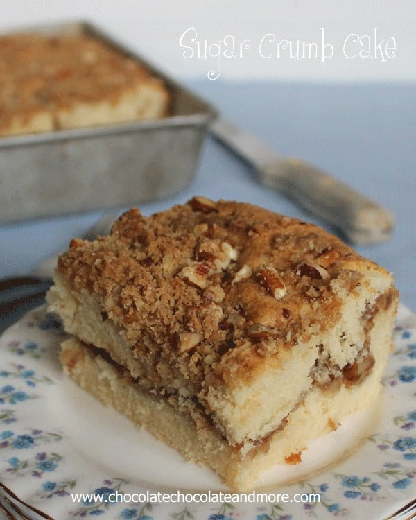 Sugar Crumb Cake from Chocolate, Chocolate and More