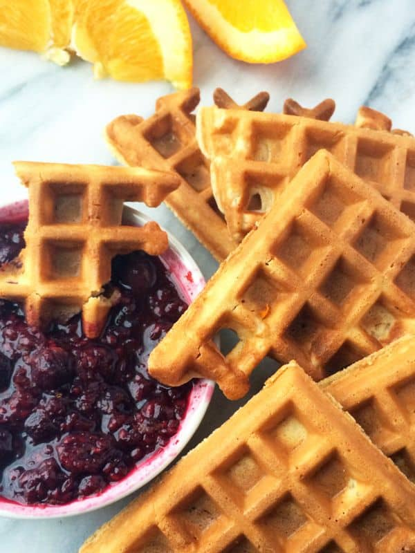 Waffle-Dippers-with-Orange-Berry-Compote-The-Lemon-Bowl
