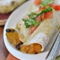 Butternut Squash Black Bean Enchiladas