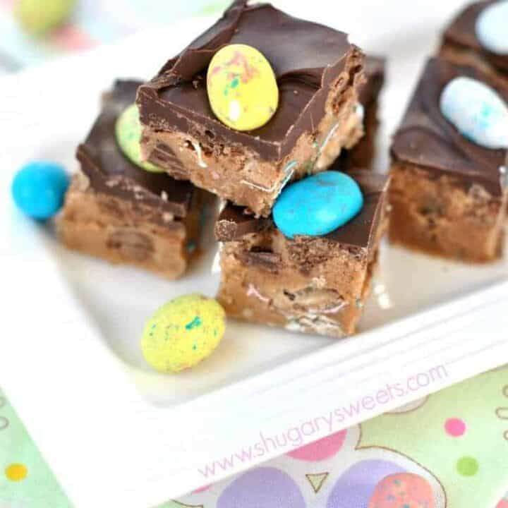 Malt Ball Cookie Dough Bars