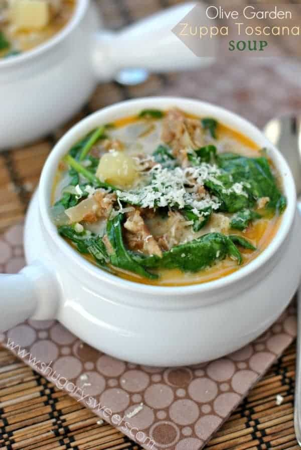 Creamy, delicious Zuppa Tuscana Soup. Copycat recipe based off the original from Olive Garden!