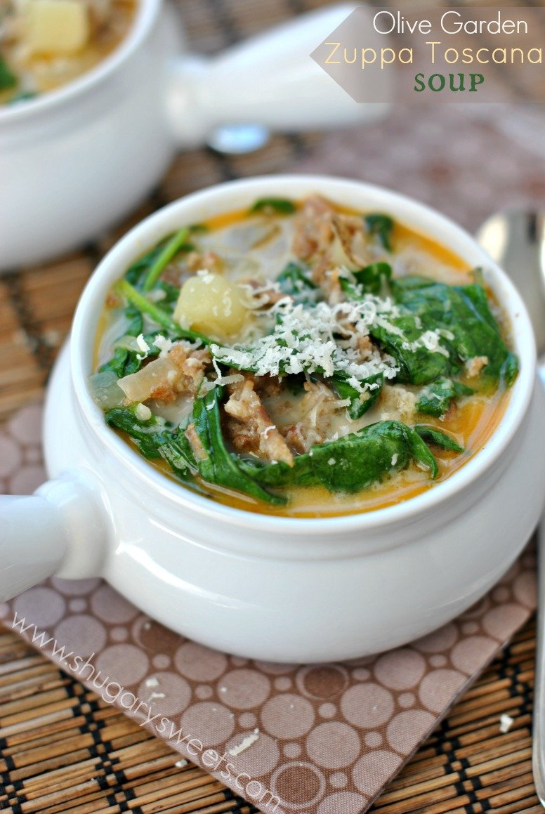 Zuppa tuscana soup shugary sweets - Olive garden soup and salad dinner ...
