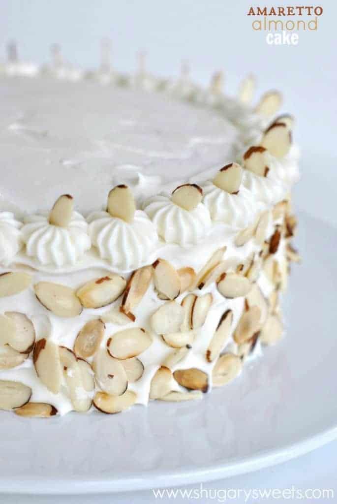 Amaretto Almond White Cake