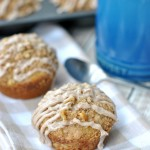Cinnamon Glazed Banana Streusel Muffins