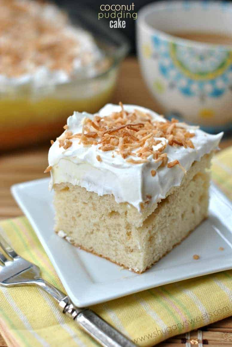 Coconut Poke Cake With Pudding