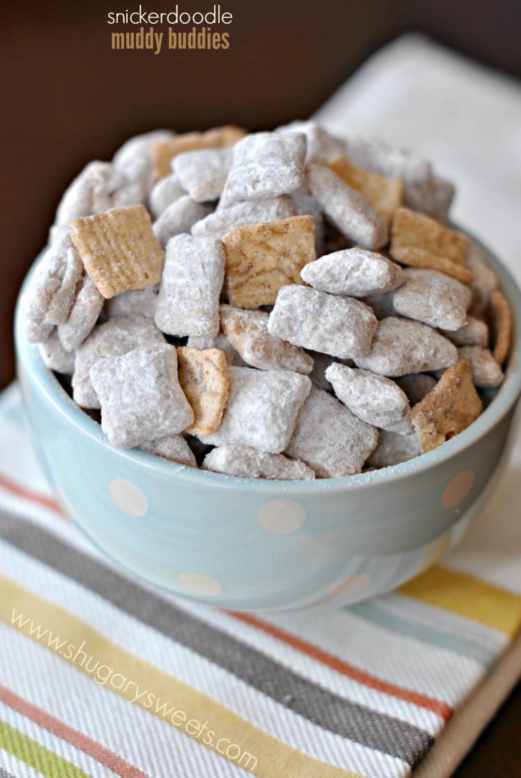 Shugary Sweets: Snickerdoodle Muddy Buddies