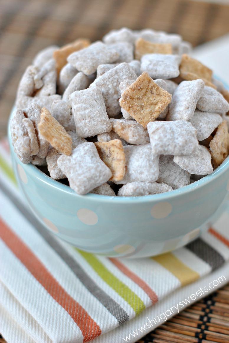 Snickerdoodle Muddy Buddies - Shugary Sweets