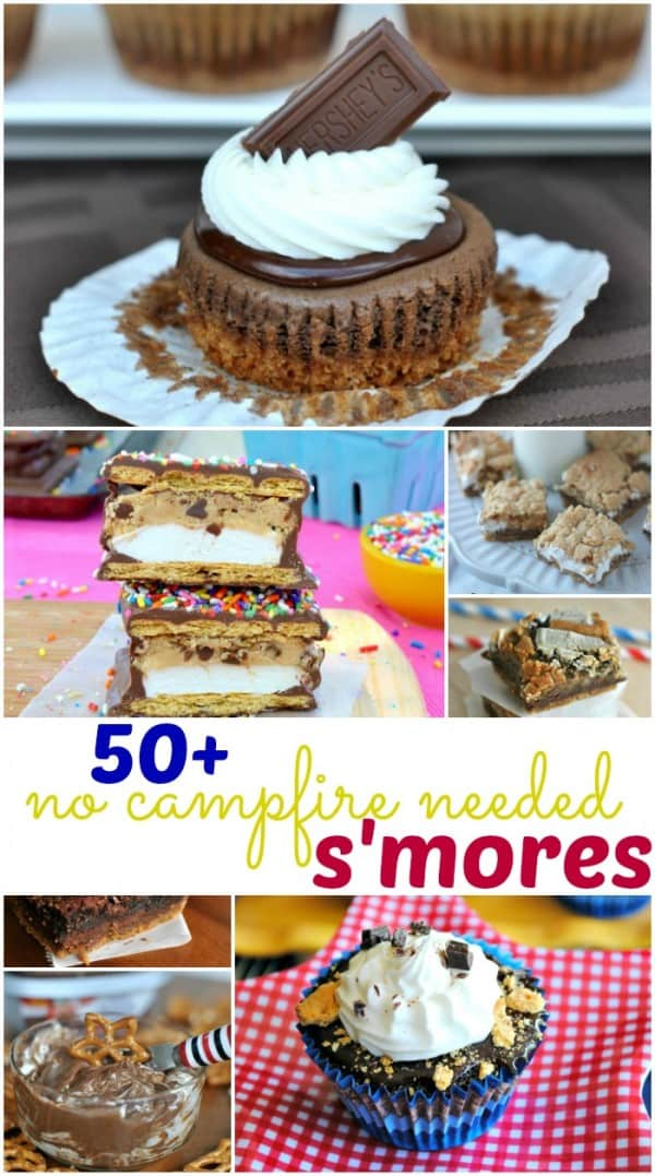 50+ S'mores recipes that you can enjoy without a campfire! Perfect summertime treats!