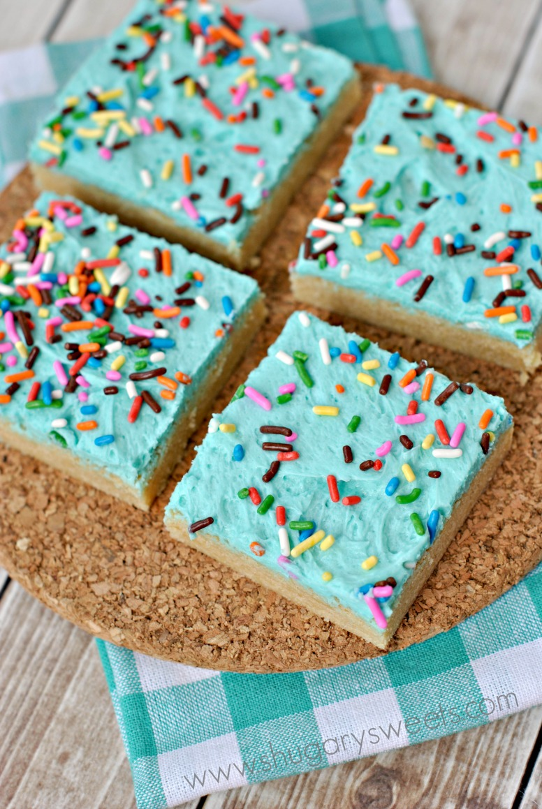 Frosted Sugar Cookie Bars Shugary Sweets