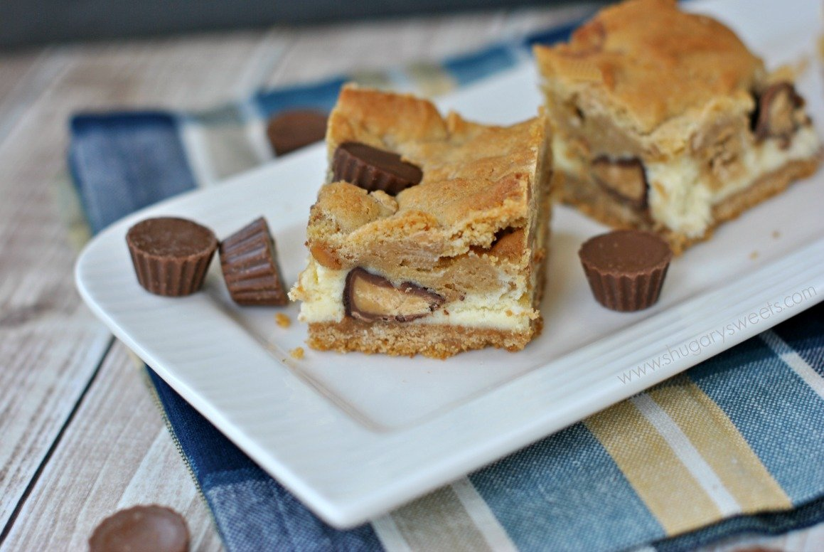 Peanut Butter Cheesecake Bars are so creamy and perfect! This recipe ...
