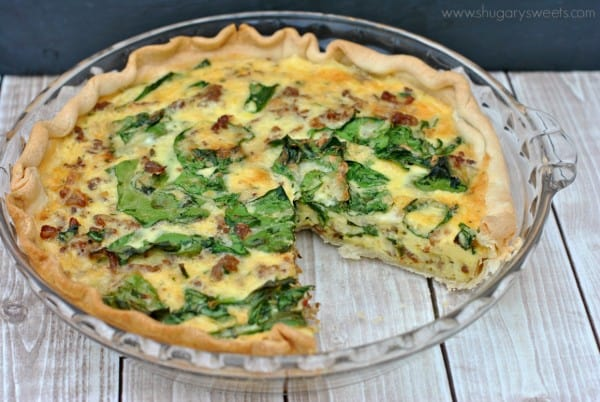 Spinach And Sausage Quiche Shugary Sweets