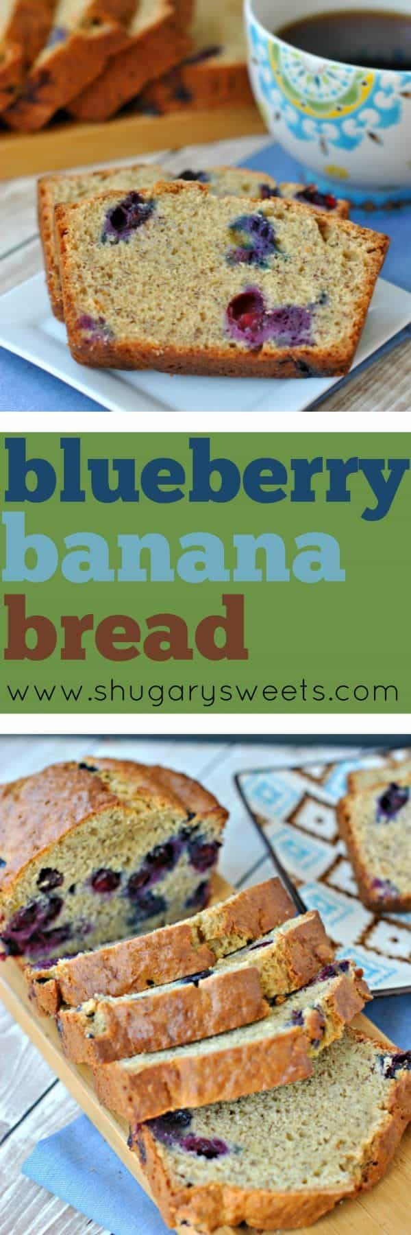 Adding blueberries to Banana bread is just a good idea. One slice of this Blueberry Banana Bread and you'll totally understand. I enjoyed my slice of bread with a hot cup of coffee!