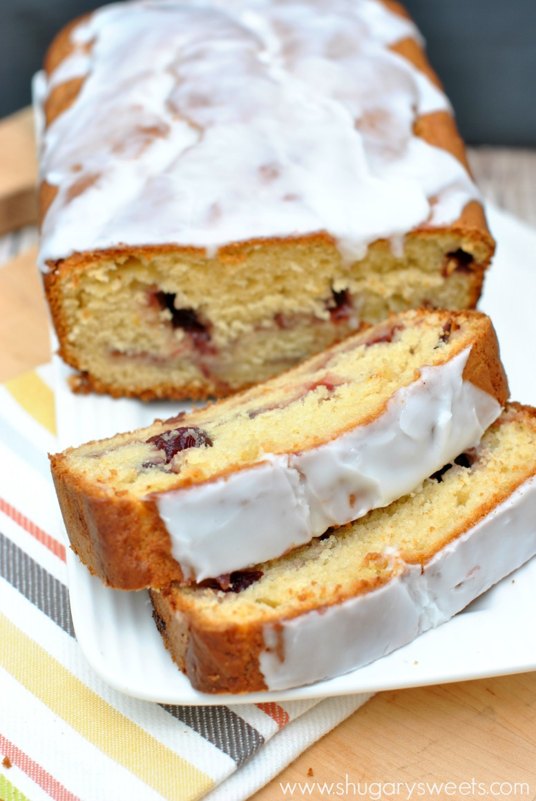 Cranberry Orange Bread: super easy, moist quick bread makes two loaves ...