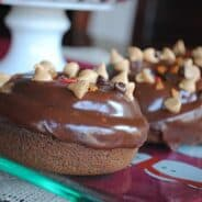 Chocolate Peanut Butter Donuts - Shugary Sweets
