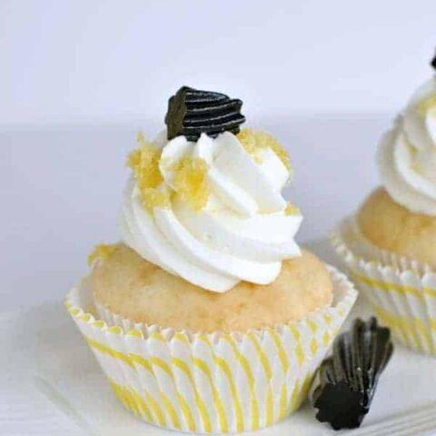 Lemon Licorice Cupcakes