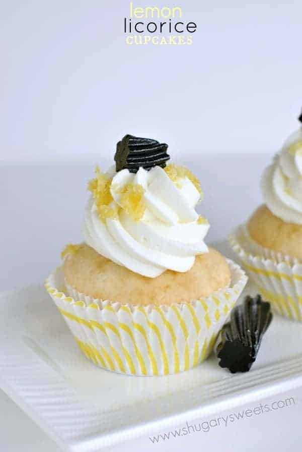 Lemon Licorice Cupcakes: a surprisingly delicious flavor combo for the licorice lover in your life!