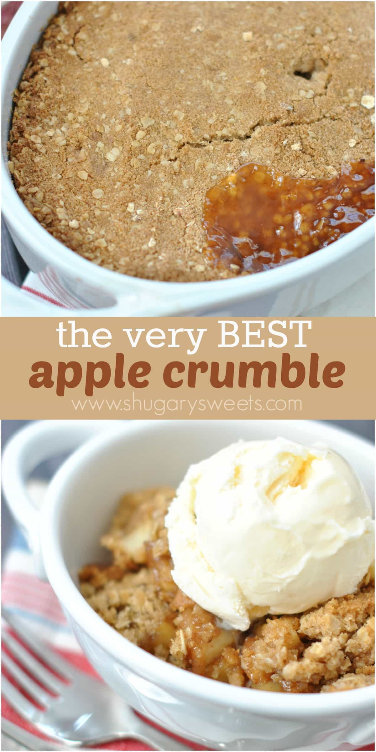 Apple crumble shugary sweets for Easy recipe for desserts