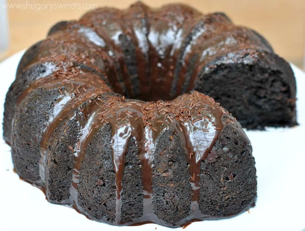 Chocolate Zucchini Cake, this is so moist and the chocolate ganache ...