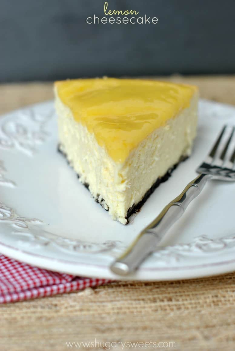 Perfect Lemon Cheesecake Topped With Homemade Lemon Curd