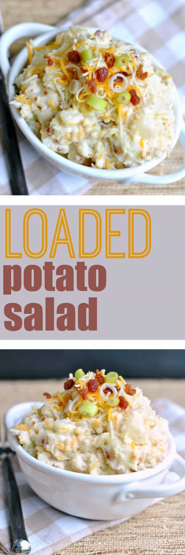 This Loaded Potato Salad is sure to be a crowd pleaser. I can tell you it definitely was a hit with my family!