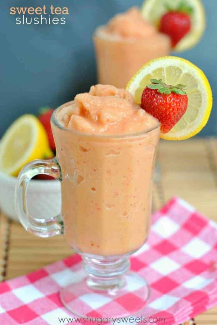 Serve up this summer slushie for your family and friends. Or make Sweet Tea Slushies to enjoy by yourself!