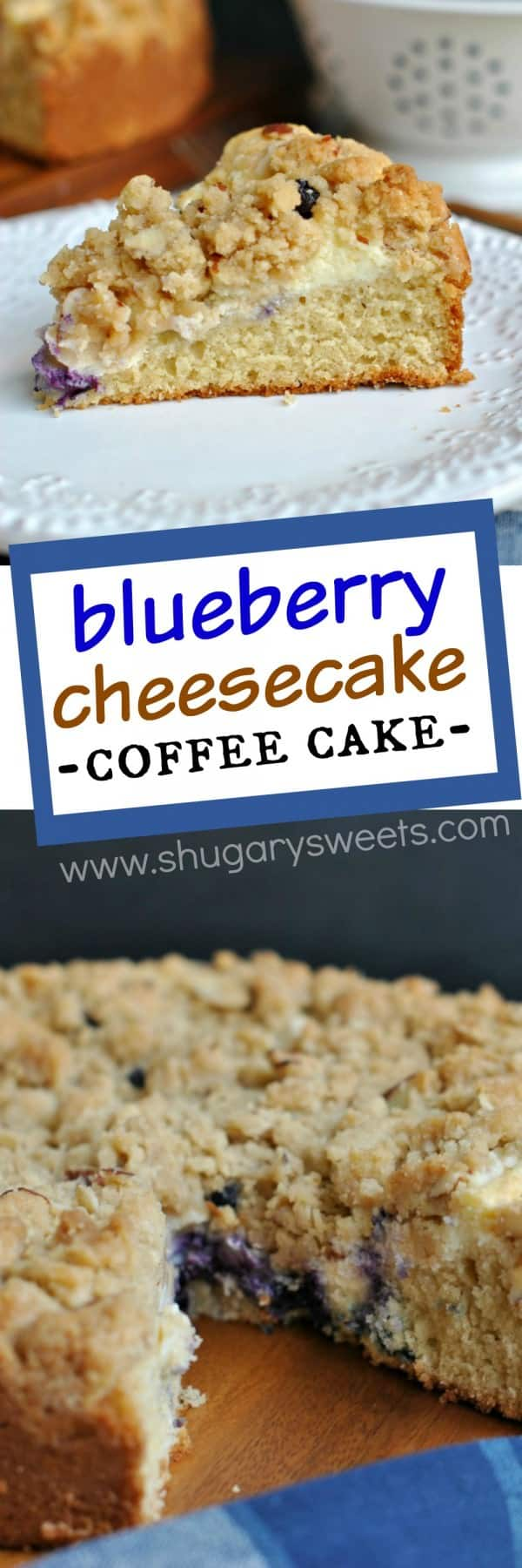 Delicious Coffee Cake With A Ribbon Of Cream Cheese And Fresh Blueberries