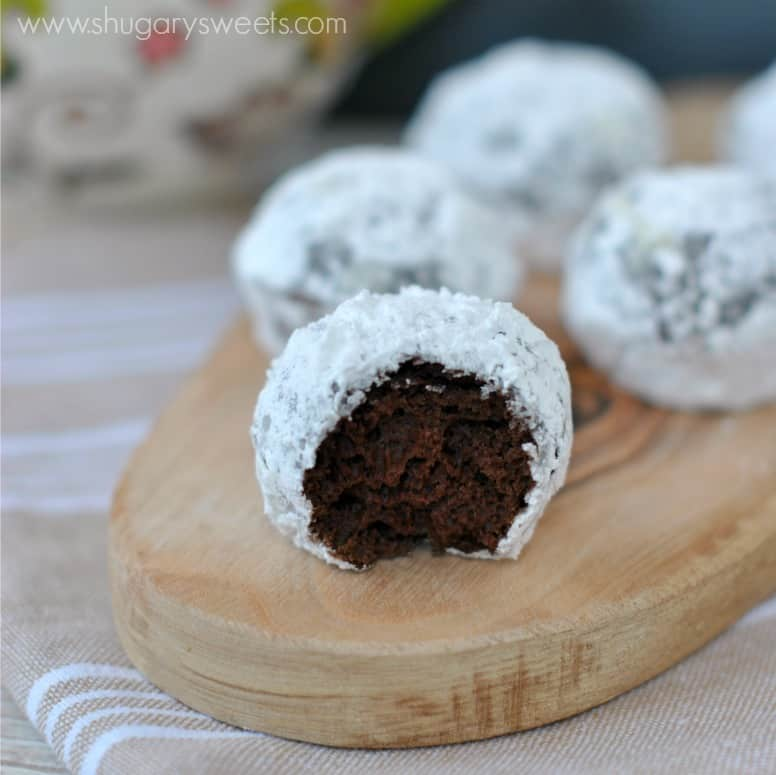 Chocolate Powdered Sugar Donut Holes: baked and ready in under 30 ...