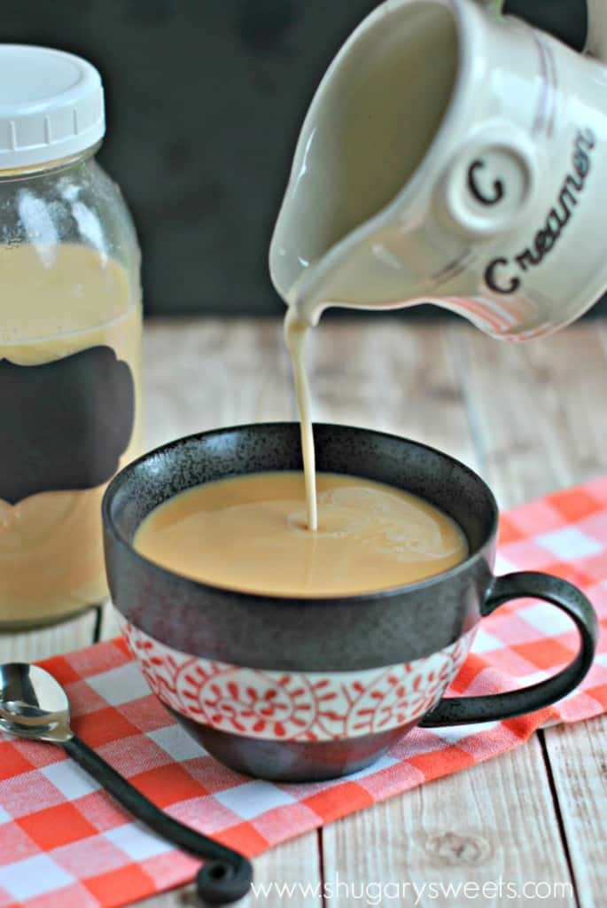Homemade Creme Brulee Coffee Creamer is so easy to make. This recipe is easy to