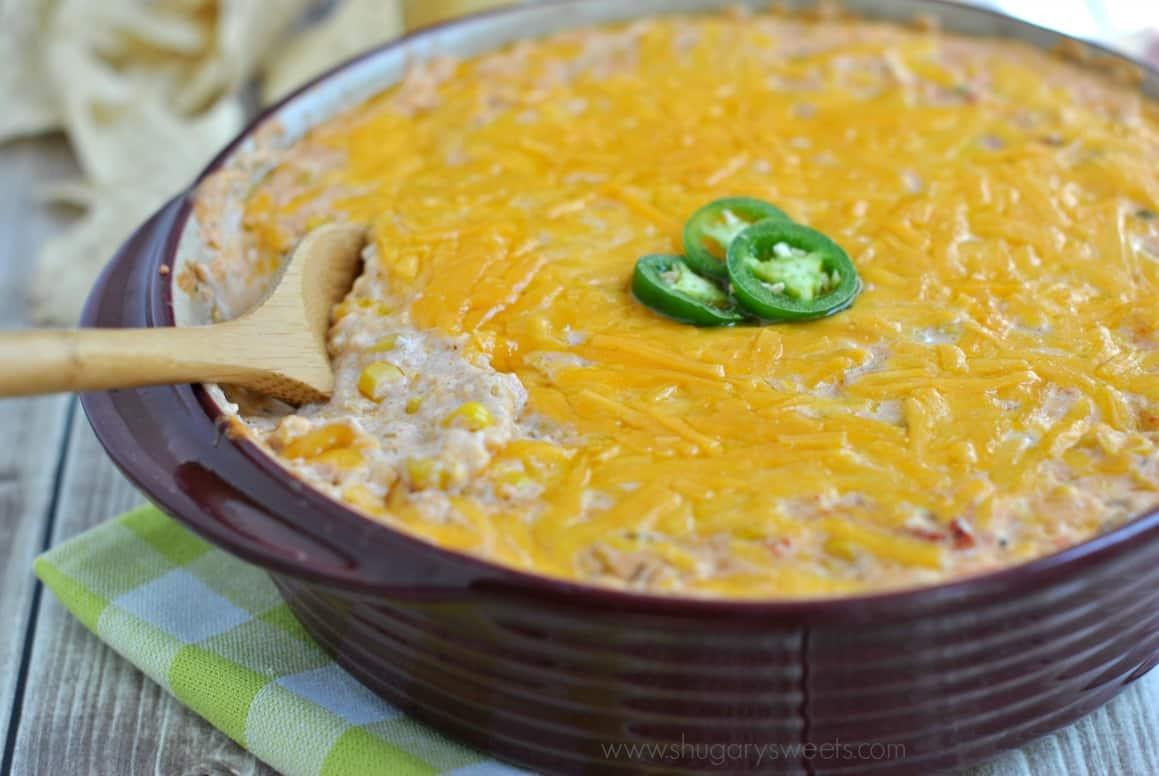 Hot Jalapeno Corn Dip - Shugary Sweets