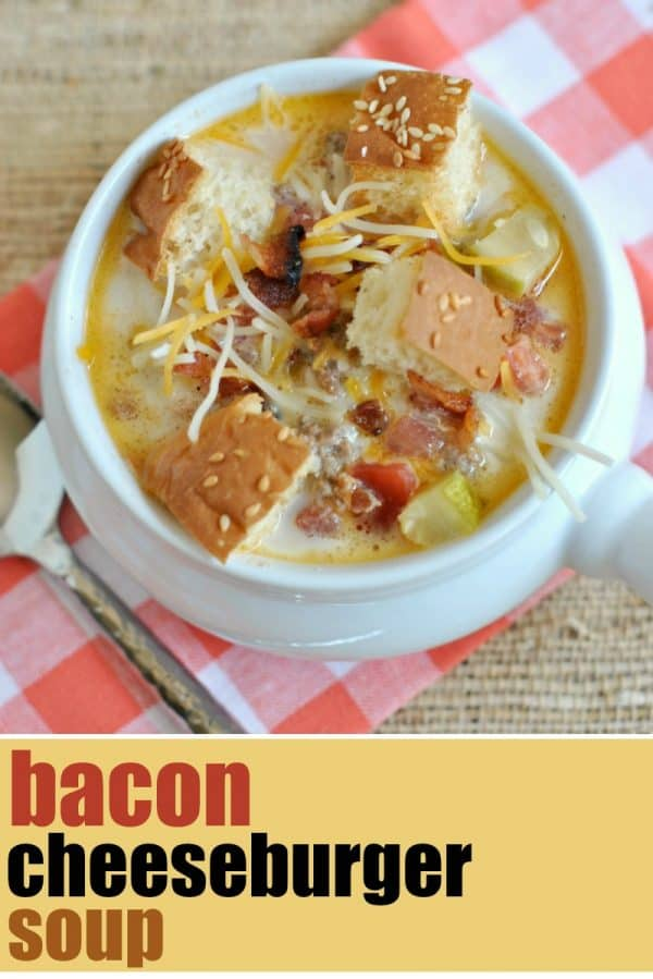 Bacon Cheeseburger Soup recipe in 30 minutes